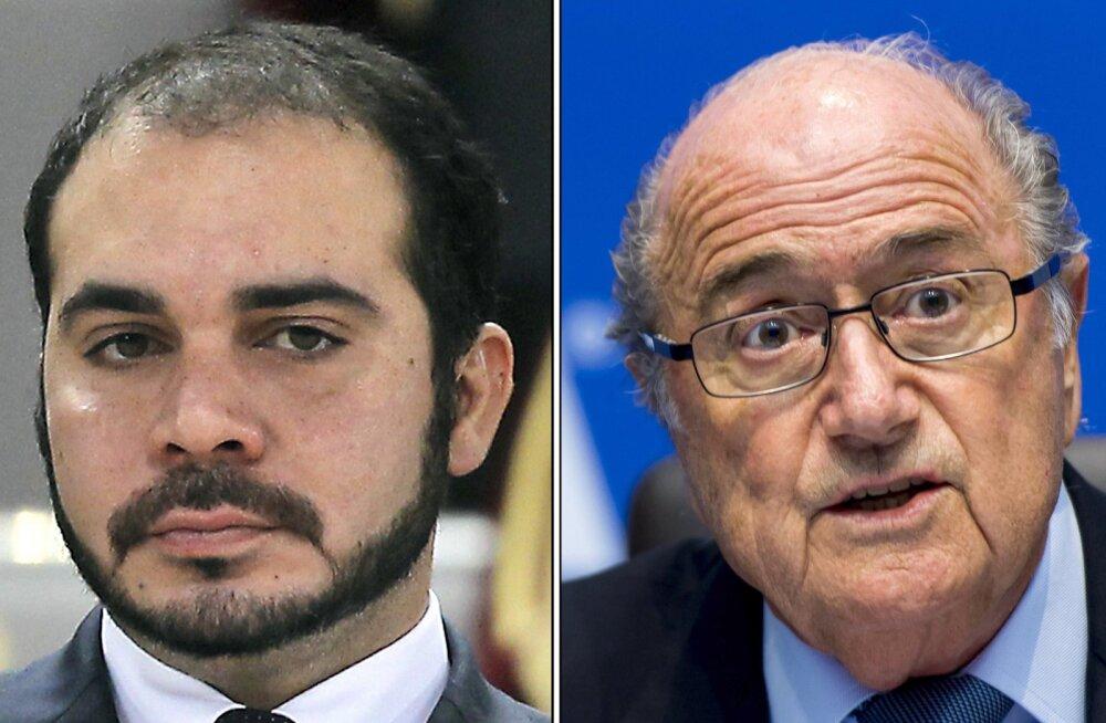 Presidendikandidaadid  Ali bin al-Hussein ja Sepp Blatter