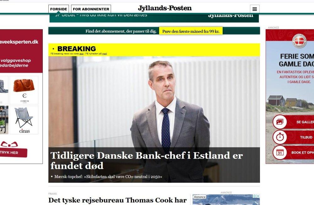 Aivar Rehe surm on esiuudis kõigis suuremates Taani meediakanalites