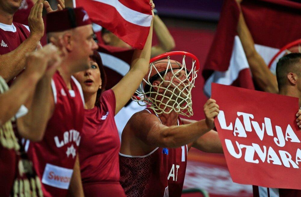 Läti korvpallimeeskond on EM-il oma fännidele pakkunud vaimustavaid hetki.