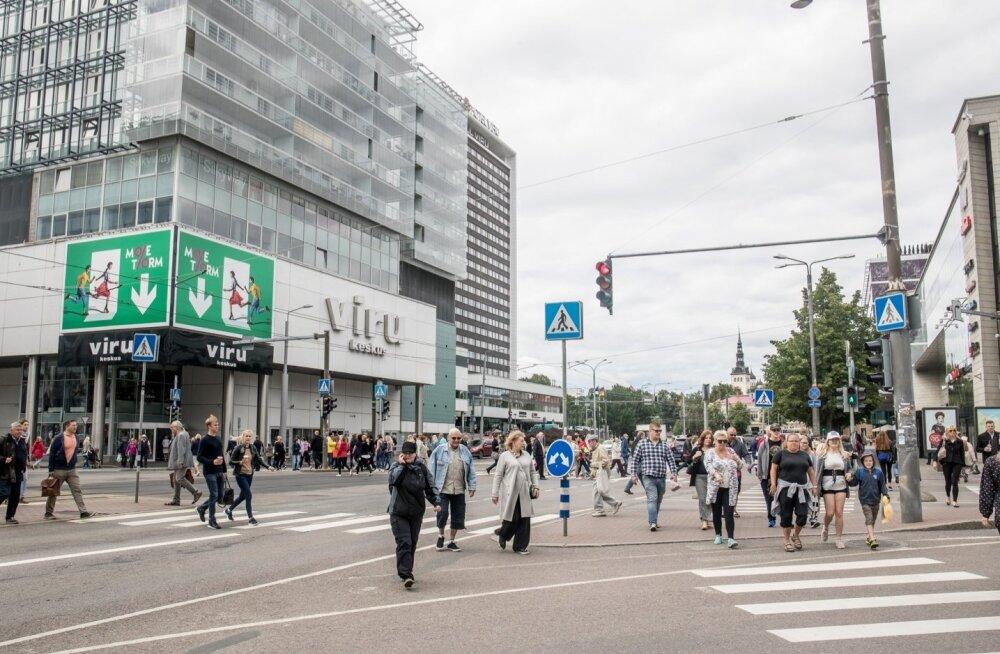"""Politsei sulges Tallinna kesklinna """"trahvimasina"""""""