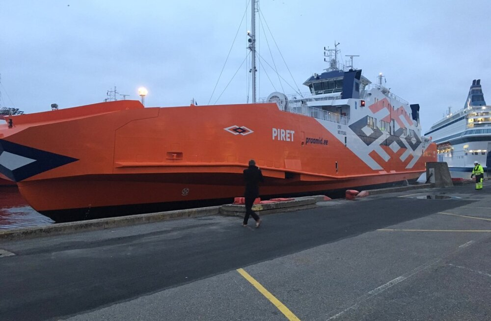 Parvlaev Piret saabus Vanasadamasse.