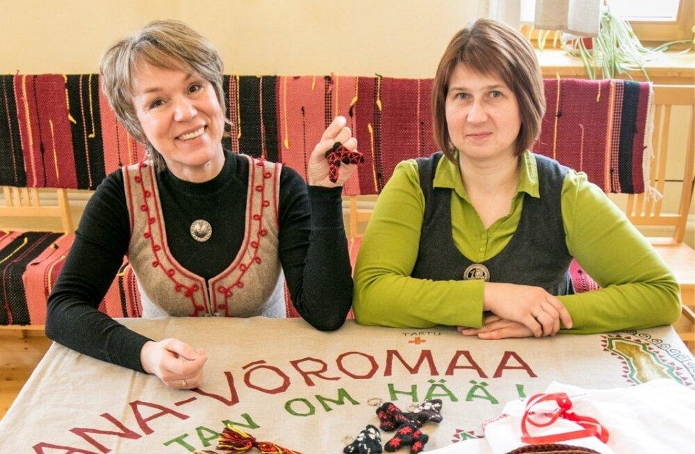 Vilve Oja ja Karille Bergmann loodavad e-poe kaudu viia kauni näputöö soovijateni.