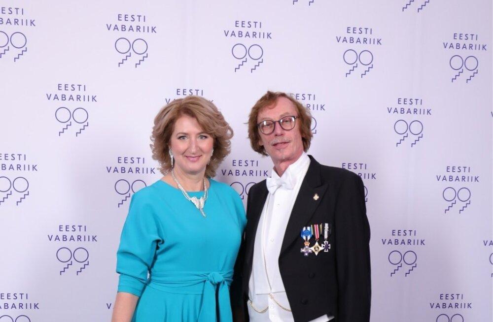 Riigikogu liige Viktor Vassiljev ja proua Jelena Tomasova