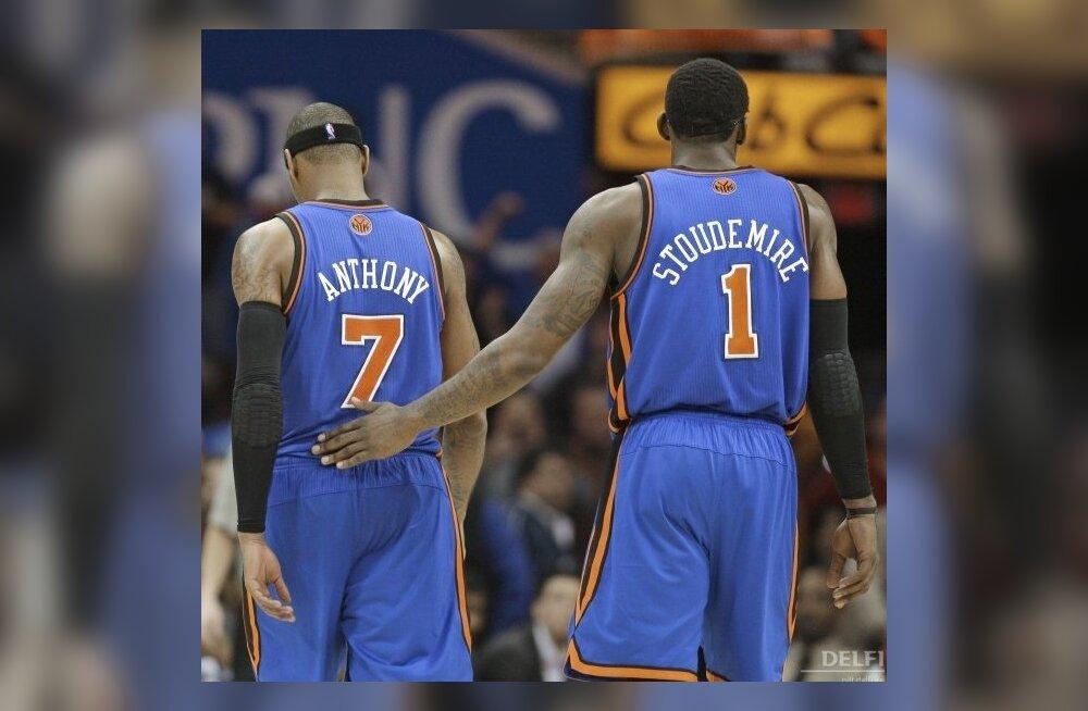 New York Knicksi tähed noruspäi väljakult lahkumas, NBA, korvpall