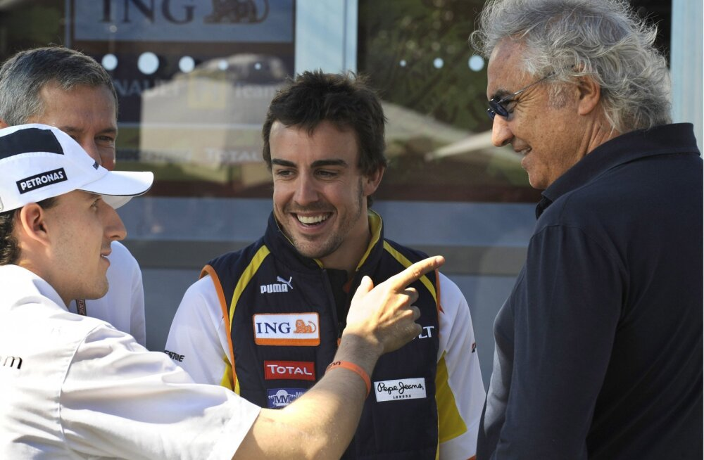 Fernando Alonso ja  Flavio Briatore 2009. aastal