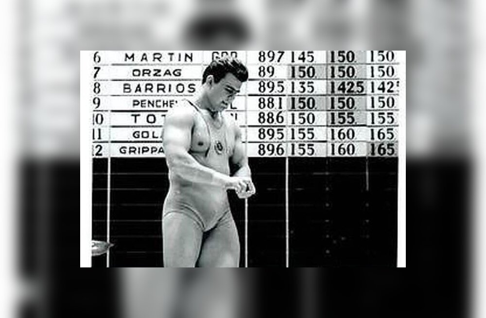 Jaan Talts Mexico olümpiamängudel.