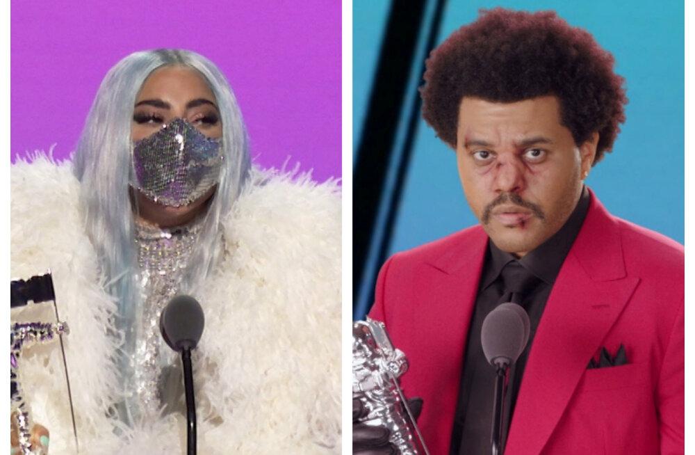 FOTOD | Klaaskuulidest hirmuäratavate meikideni: vaata, millised olid MTV auhinnagala kõige veidramad riietused