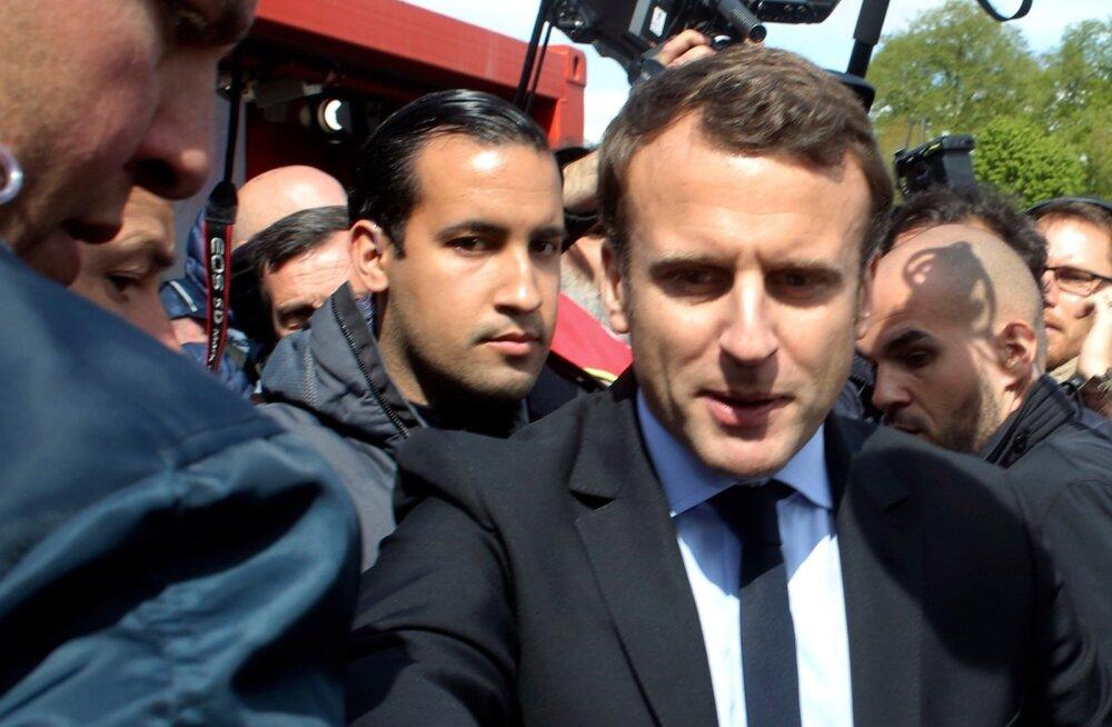 Macron ja Benalla helgematel aegadel, kui Benalla juhtis Macroni presidendikampaania turvatöid.