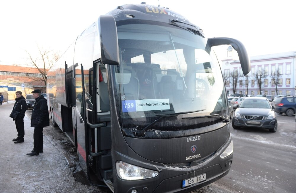Lux Ekspress, bussid Narvas, 03.01.2017