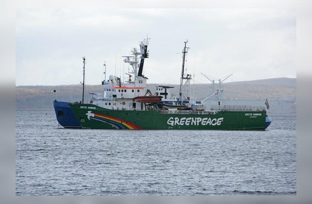 Moskva esitas 13 Greenpeace'i aktivistile süüdistuse huligaansuses