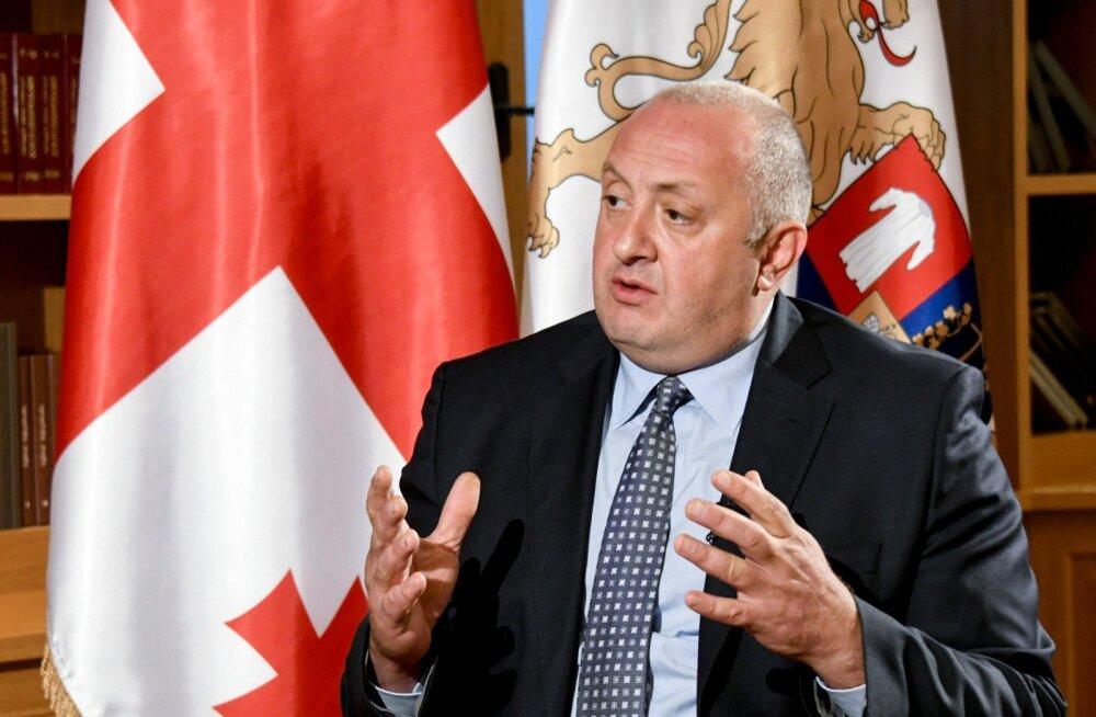 Gruusia president Margvelašvili: okupatsioon ei alanud mitte 2008, vaid märksa varem