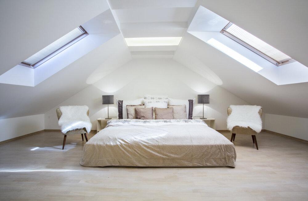 Kas suvila pööningust saab magamistoa?
