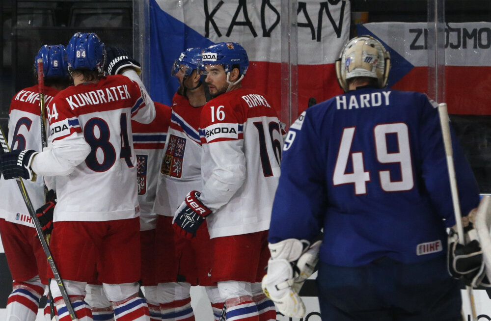 VIDEO: USA ja Tšehhi võtsid hoki MM-il suured võidud