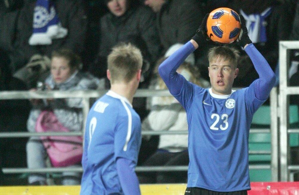 Andrei Sidorenkov Eesti koondises kohtumises Uruguay vastu