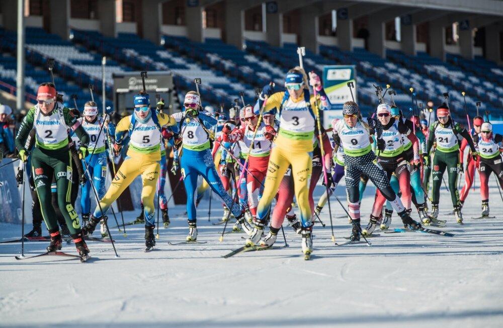 IBU CUP Otepää naiste ja meeste supersprint finaal