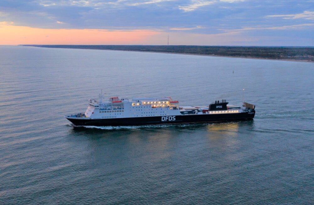 Eesti-Rootsi liinil sõitev DFDSi laev Sirena Seaways