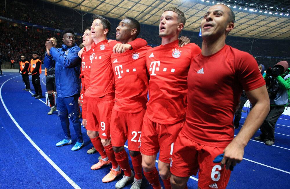 Teisel poolajal väravatesaju korraldanud Müncheni Bayern vähendas liidriga vahet