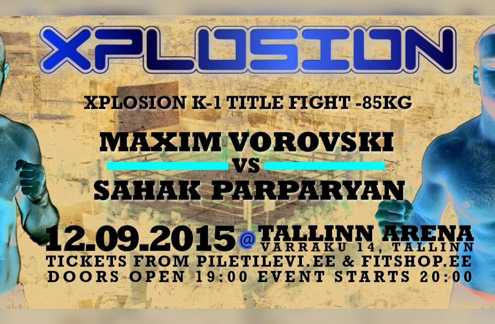 Maailma suurima kickboxingu liiga GLORY võistleja tuleb Xplosioni tiitlit jahtima