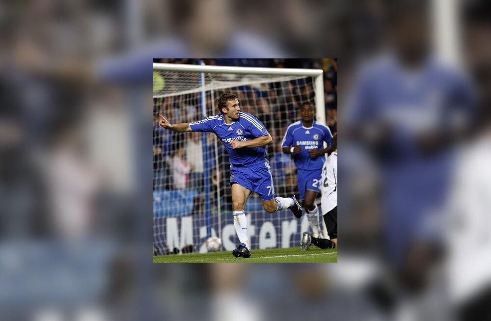 Andrei Ševtšenko  on löönud Chelsea viigivärava