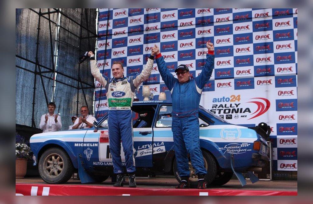 FOTOD: Tõeline retro! Jari-Matti Latvalale Historic autode võit Rally Estonial
