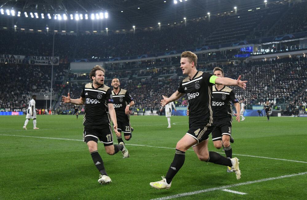 Amsterdami Ajax tähistab Matthijs de Ligti võiduväravat