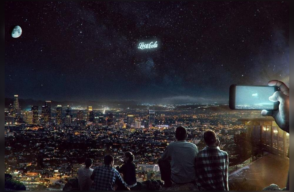Reklaamimaailma tulevik: firmade logod säravad tähtede vahel