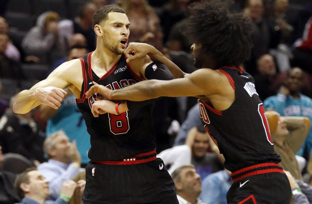 VIDEO | Chicago Bullsi palluri imeline õhtu: 13 tabavat kolmest ja võiduvise