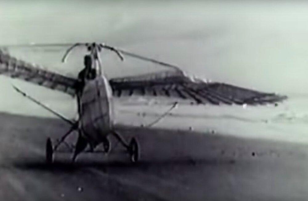 HARULDASED KAADRID | Vaata, millised olid inimese esimesed abitud, kuid entusiastlikud katsed lennata!