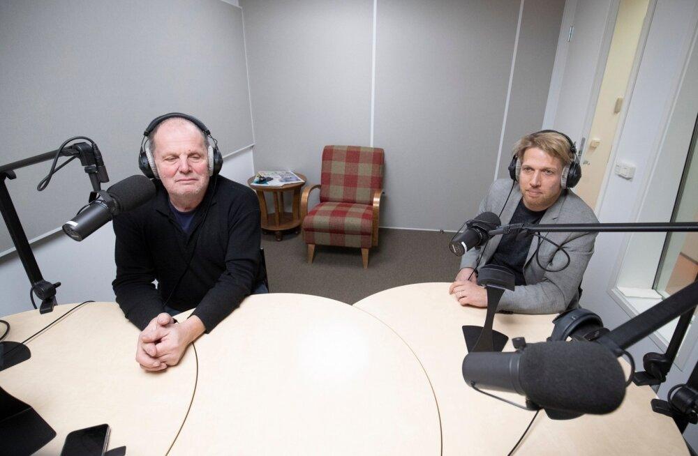 Peeter Ernits ja Jaanus Kariaid Delfi stuudios
