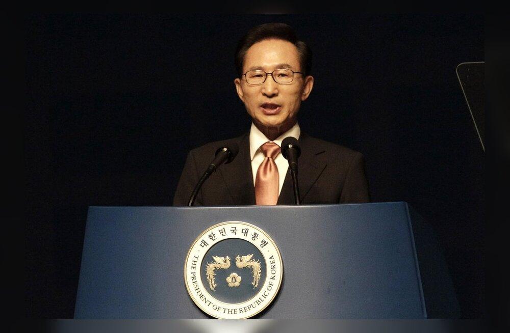 Lõuna-Korea president: suhteid Jaapaniga varjutab Jaapani arusaam ajaloost