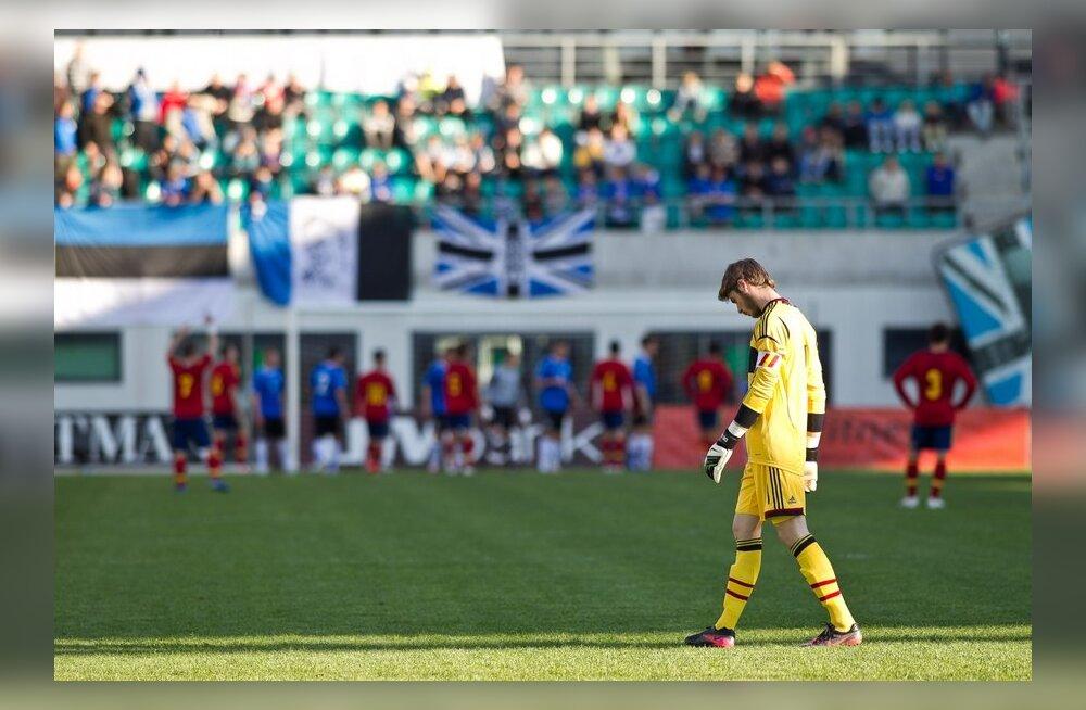 David de Gea Eesti U-21 koondise vastu