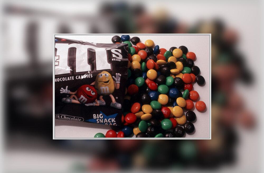Šokolaadisõda M-tähe pärast: Rootsis plaanitakse keelustada M&M's kommide müük