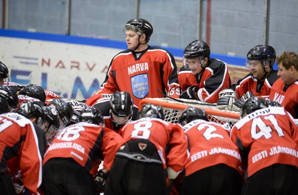 Jäähoki Narva PSK vs U20 Noortekoondis