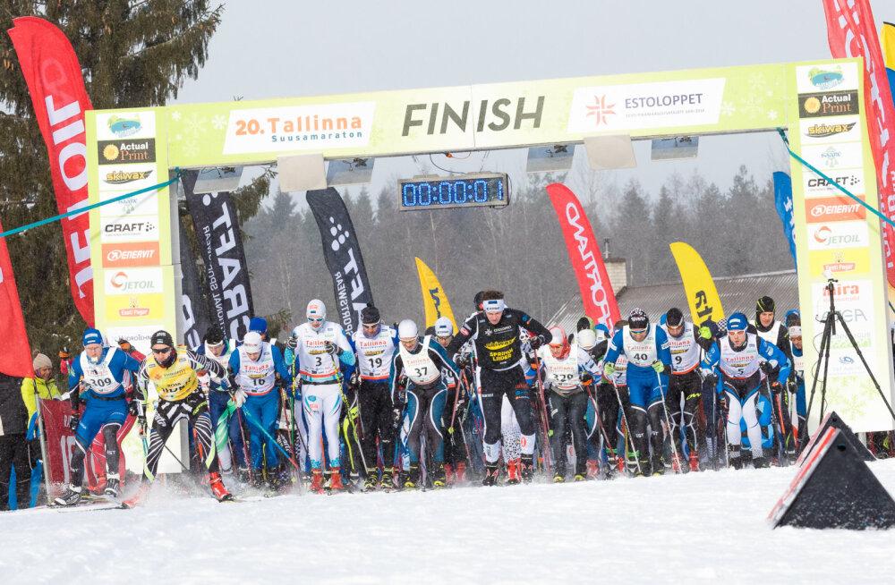 Olümpial veerandfinaali jõudnud Marko Kilp võidutses Tallinna suusamaratonil