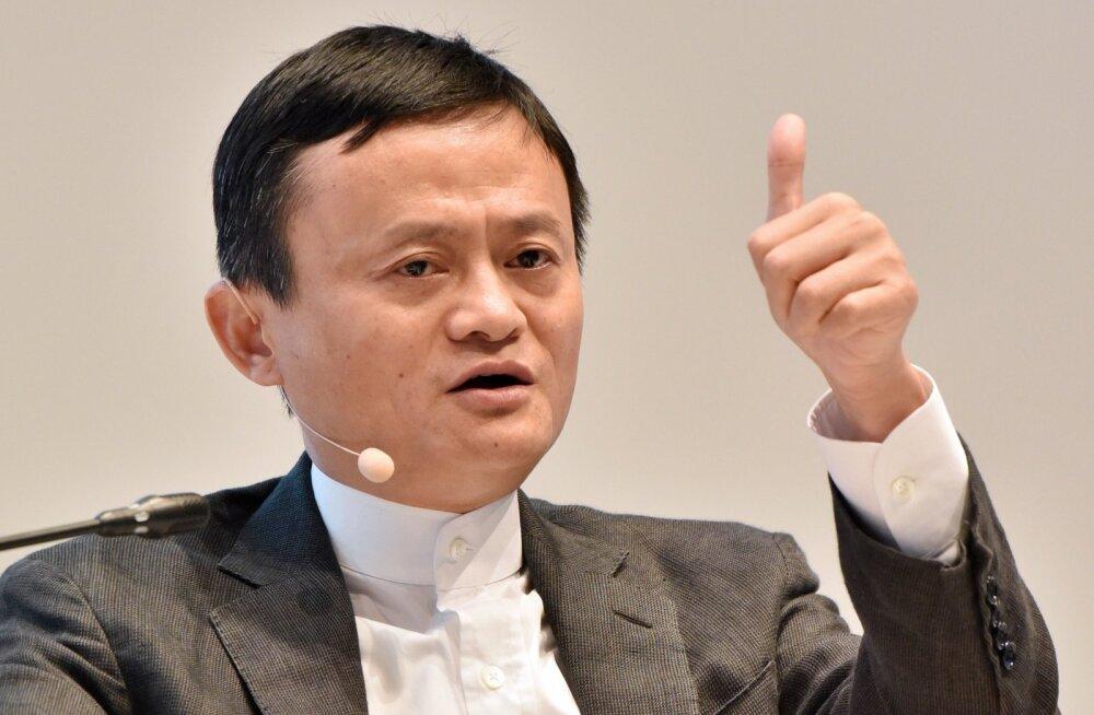 Alibaba grupi asutaja ja juht Jack Ma Peterburi majandusfoorumil esinemas.
