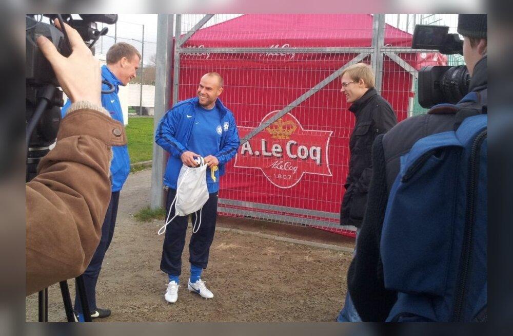 Joel Lindpere koondise treeningul, jalgpall