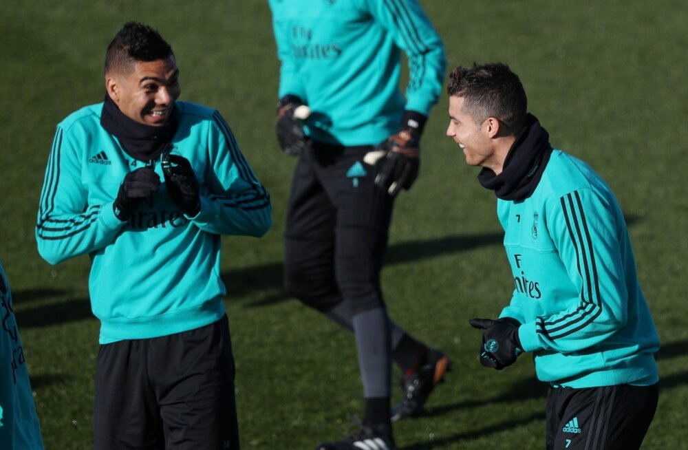 Cristiano Ronaldo (paremal) naasis Reali treeningutele.