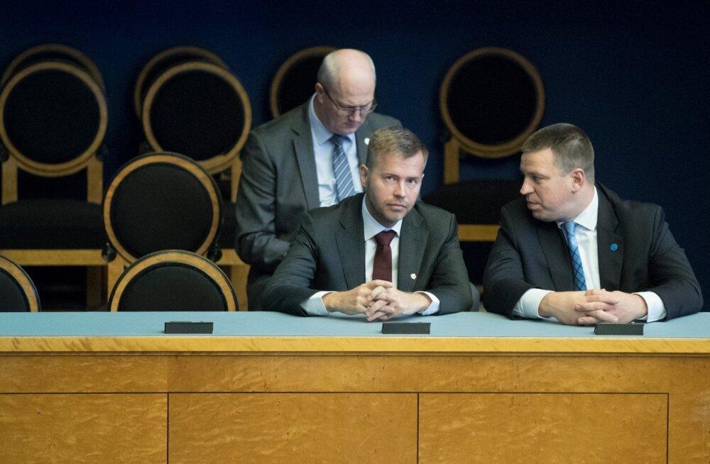 Ettevõtlus- ja infotehnoloogiaminister Rene Tammist.  Ametivande andmine riigikogu ees