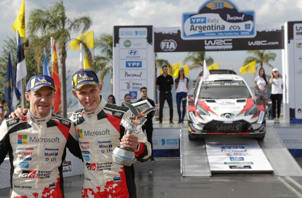 Argentina ralli võitjad Martin Järveoja ja Ott Tänak.