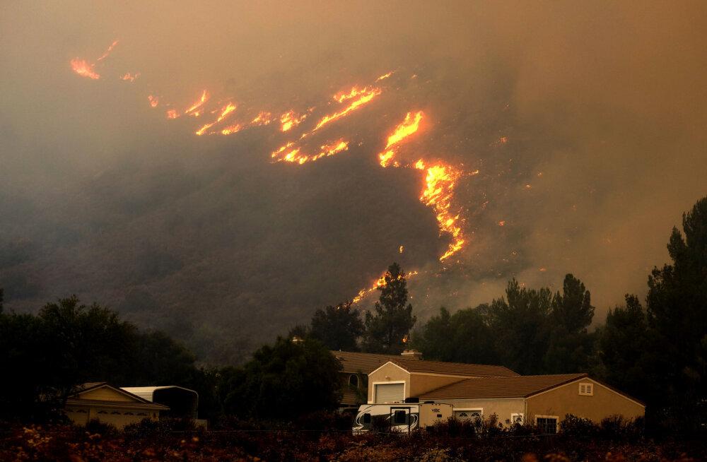 Ilmaüllatused 2018 | Los Angeles - põleng jõudis aukonsuli kodust 5–6 km kaugusele