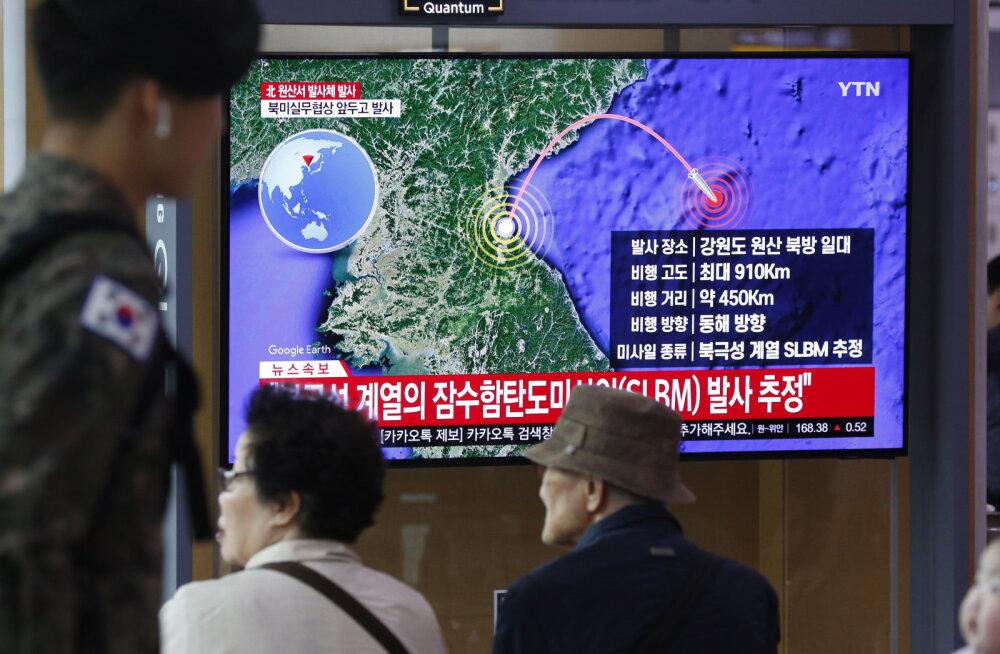 Põhja-Korea võis lasta ballistilise raketi välja allveelaevalt