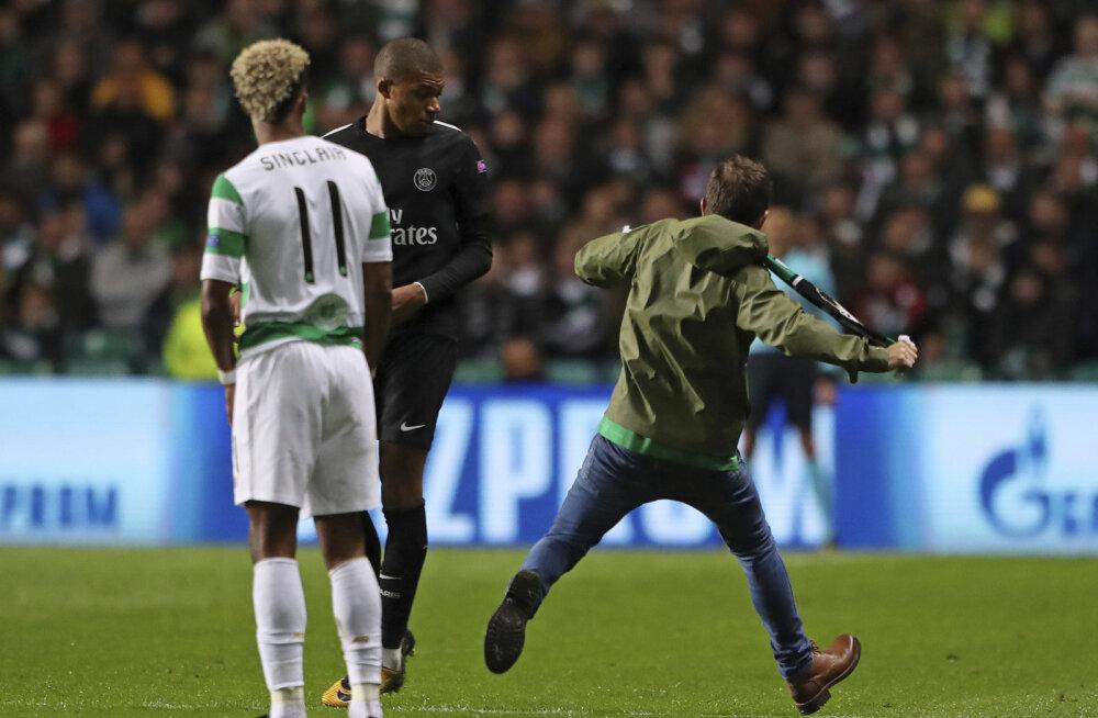 Celtic sai PSG mängijat rünnata üritanud fänni eest trahvi