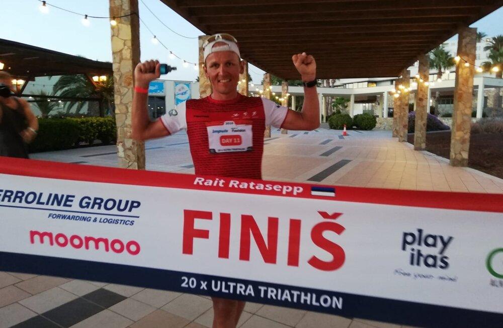 11. päeva järjest täispika triatloni finišisse lipanud Rait Ratasepp jõudis Eesti rekordini