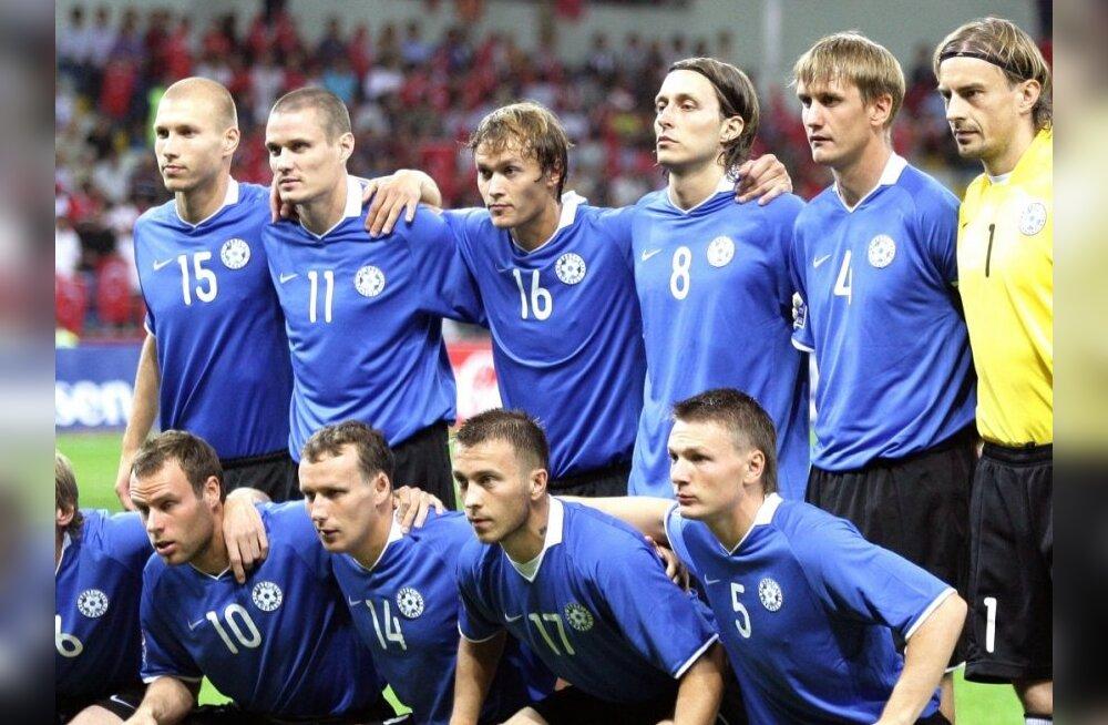 Eesti jalgpallikoondis tegi maailma edetabelis kerge languse