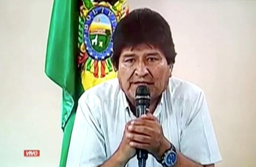 Boliivia president Morales oli sunnitud meeleavalduste tõttu tagasi astuma