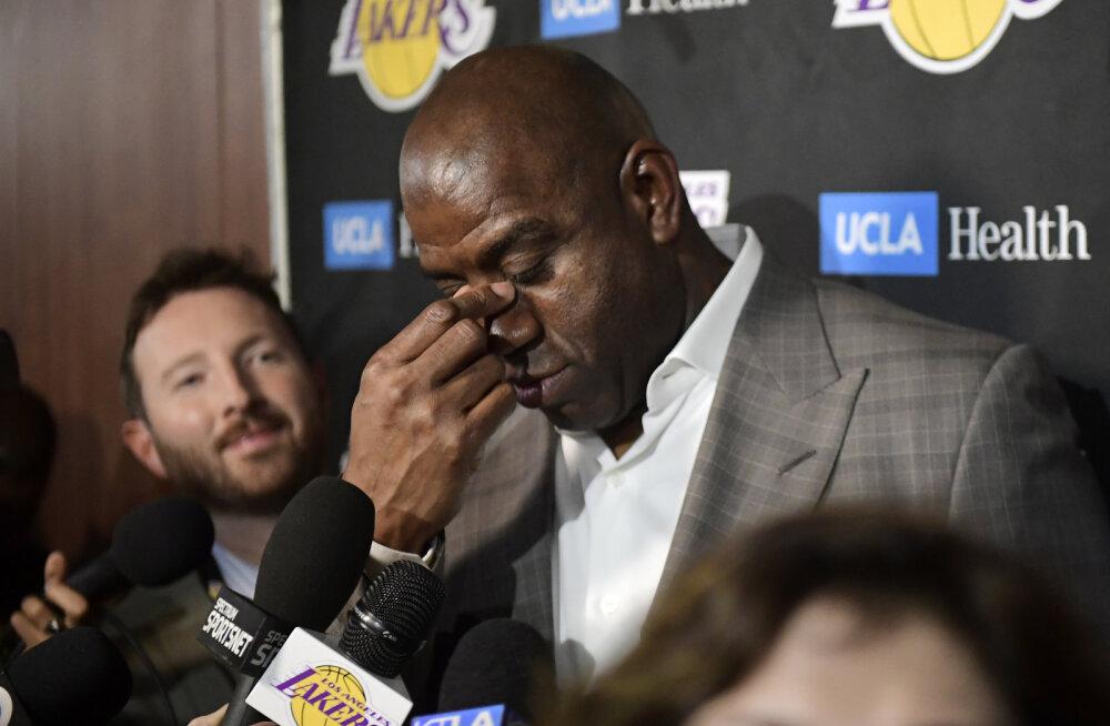 NBA legend Magic Johnson teatas ootamatult Lakersi presidendi ametikohast loobumisest