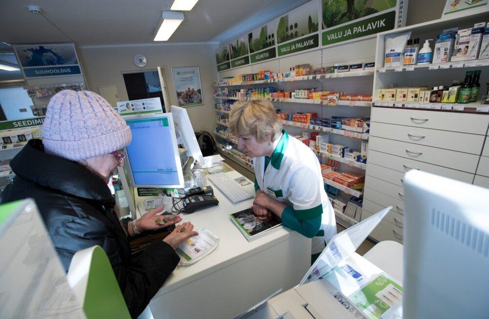 Kuivõrd enamik apteeke kuulub jätkuvalt ravimite hulgimüüjatele ja kui nendest tähtajaks proviisoriapteeke teha ei õnnestu, võib see tähendada mitmekümnete apteekide sulgemist. Pilt on illustratiivne.
