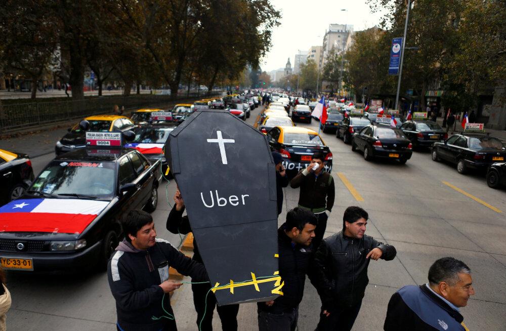 Uberi ja taksojuhtide vaheline kemplus võttis ootamatu pöörde