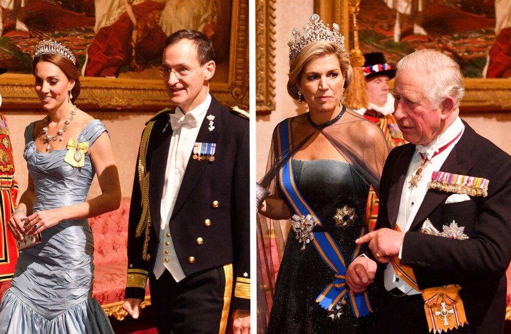 FOTOD | Kumb säras kuninglikul banketil rohkem - hertsoginna Catherine või kuninganna Maxima?