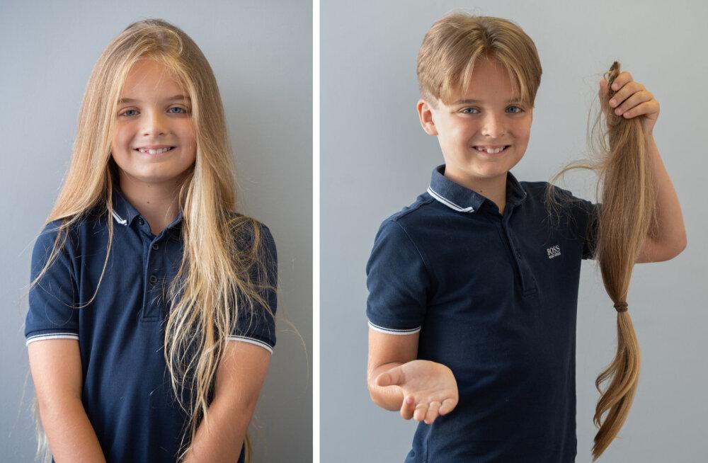 9-летний мальчик постригся ради детей, больных раком. Он сделал это впервые в жизни